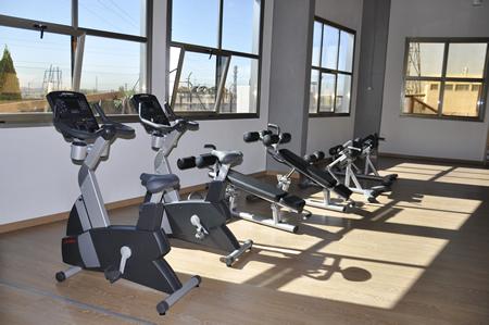 Sala de musculacion maquinas pesas entrenamiento for Gimnasio villaviciosa de odon